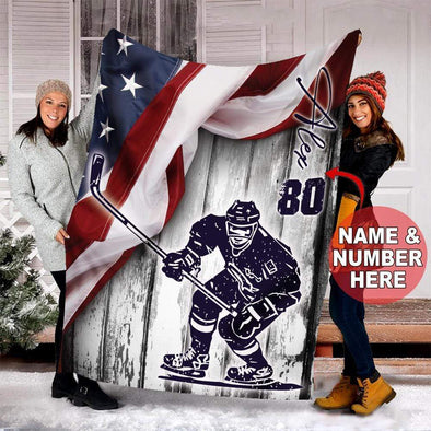 CN blanket Custom Blanket Hockey Flag Blanket #121219v