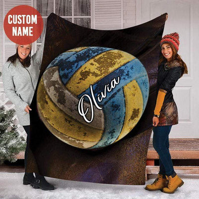 CN blanket Custom Blanket Old Volleyball Ball #101219h