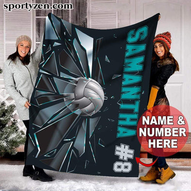 CN blanket Custom Blanket Volleyball Ball Break Glass #271219v