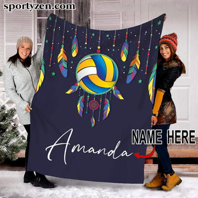 CN blanket Custom Blanket Volleyball Dream Catcher with name #080120v