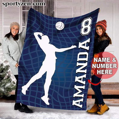 CN blanket Custom Blanket Volleyball Player Net Background #30120v