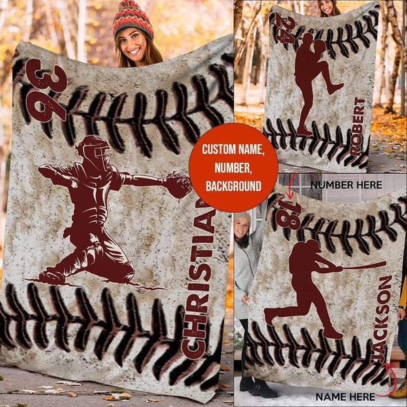 CN blanket Custom Blankets Baseball - LEATHER #211119L
