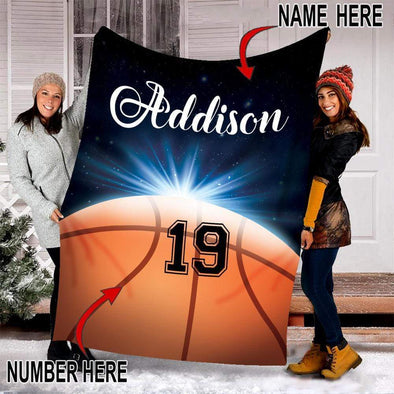 CN blanket Custom Blankets Basketball - Ball Galaxy  #111219V