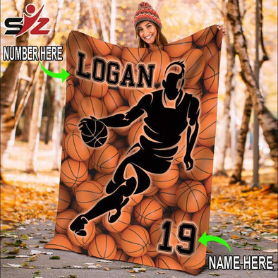 CN blanket Custom Blankets Basketball - Balls Background #231119V