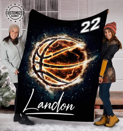 CN blanket Custom Blankets Basketball - Burning  #121219L
