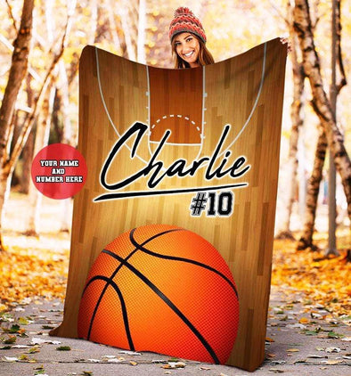 Custom Blankets Basketball - Court Lines #171219L