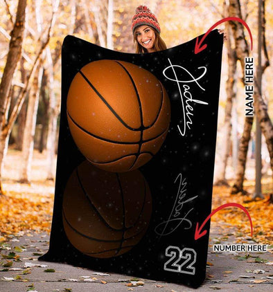 CN blanket Custom Blankets Basketball - Shadow  #131219L