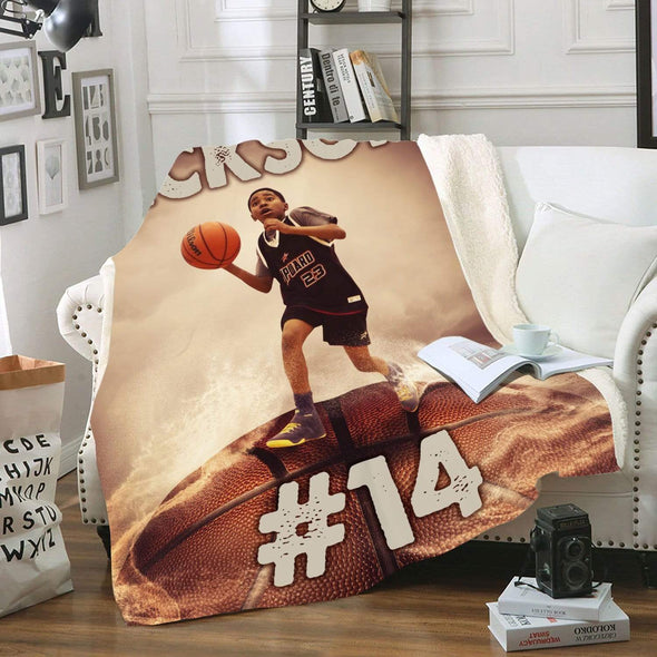 CN blanket Custom Blankets Basketball Stand on ball - #CN081119H