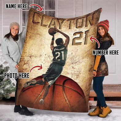 CN blanket Custom Blankets Basketball With Photo 081019H