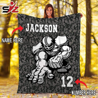 CN blanket Custom Blankets Football Lineman  #081019V