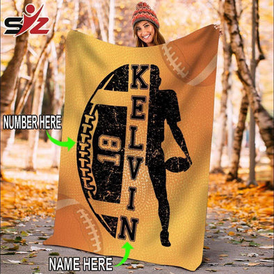 CN blanket Custom Blankets Football Player #091119V