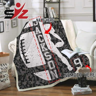 CN blanket Custom Blankets Football Player  #300919V