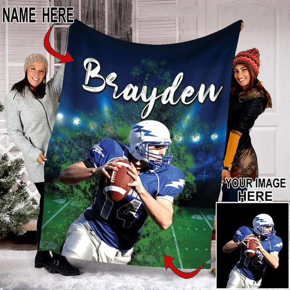 CN blanket custom blankets football player photo #101219V