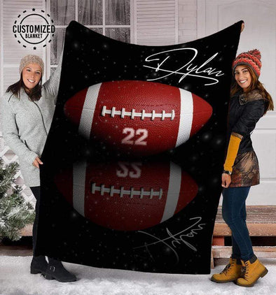CN blanket Custom Blankets Football - Shadow  #131219L