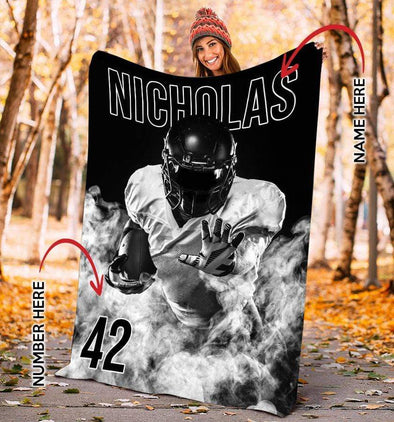 CN blanket Custom Blankets Football - Smoke  #181219L