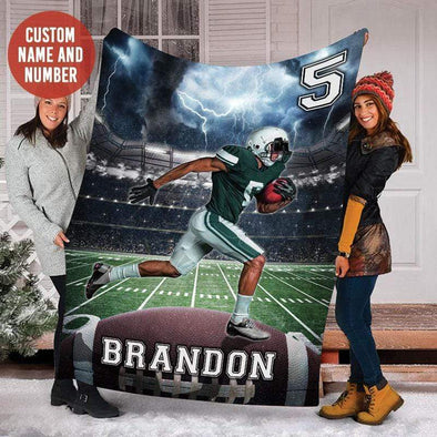 CN blanket Custom Blankets Football - Storm #121219H