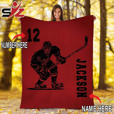 CN blanket Custom Blankets Hockey Color  #091019V
