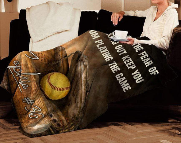 CN blanket Custom Blankets Softball #111219H