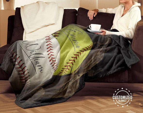 CN blanket Custom Blankets Softball And Baseball #211119L