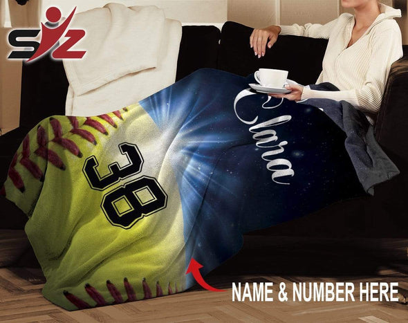 CN blanket Custom Blankets Softball - Ball Galaxy #221119V