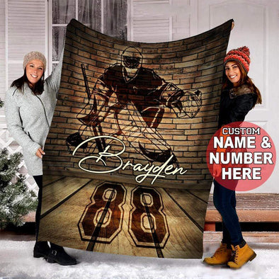 CN blanket Custom Blankets The Wall Hockey Goalie with name #13220V