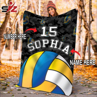 CN blanket Custom Blankets Volleyball Camo #251019V