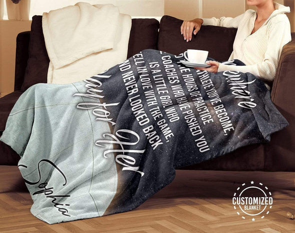 CN blanket Custom Blankets Volleyball Play for her - #CN201119L