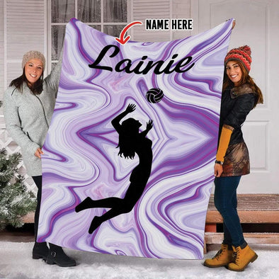 CN blanket Custom Blankets Volleyball player purple #221119V