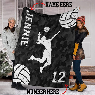CN blanket Custom Blankets Volleyball Player with Name #1402V