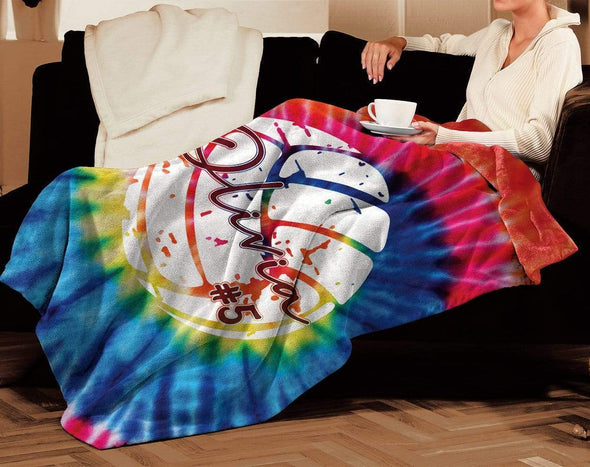 CN blanket Custom Blankets Volleyball Tie Dye #031019H