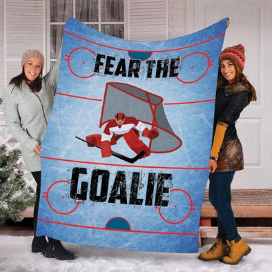 CN blanket Fear The Goalie Hockey Blanket #011119H
