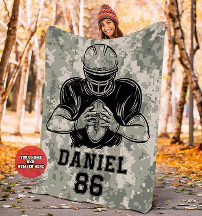CN blanket Football Player Custom Blankets with Name  #CN041119L