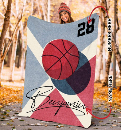 CN blanket YOUTH (110x140 cm) Custom Blankets Basketball Ball  - #CN261119L