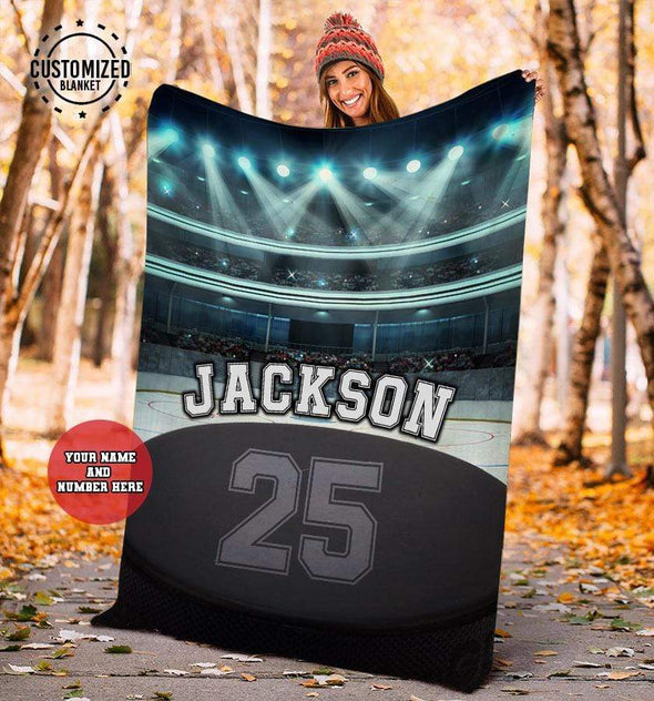 CN blanket YOUTH (110x140 cm) Custom Blankets Hockey Glory Stadium #281119L