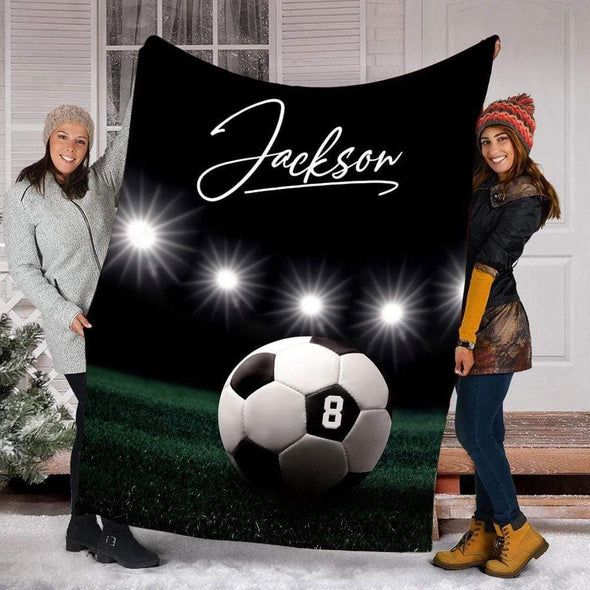 CN blanket YOUTH (110x140 cm) Custom Blankets Soccer Field- #CN221119L