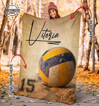 CN blanket YOUTH (110x140 cm) Custom Blankets Volleyball Ball- #CN281119L