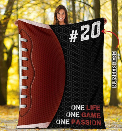 CN blanket YOUTH (56x43 in/140x110 cm) Football- One passion Custom Blankets  #CN041119L