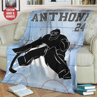 Custom Blankets Hockey Goalie Ice Court Blanket #49l