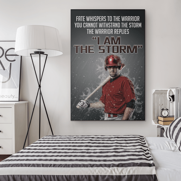 manual canvas Baseball custom canvas prints - I Am The Storm #081019H