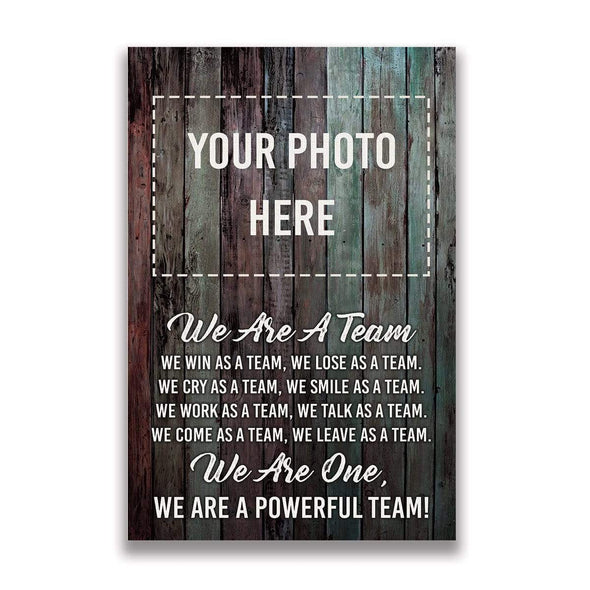 manual canvas Baseball custom canvas prints We're one #250919H