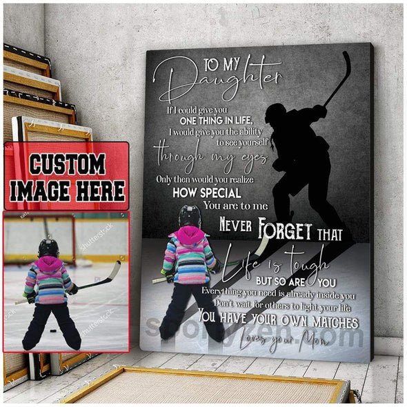 manual canvas Copy of Custom Canvas Prints Hockey Player With Photo 121019H