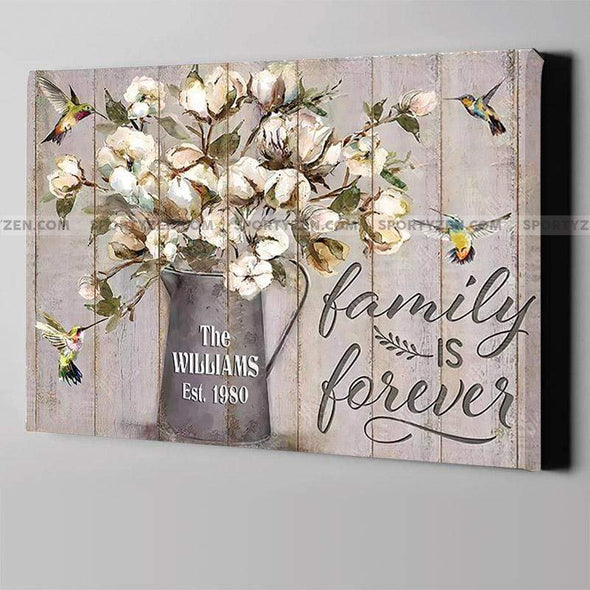 manual canvas Family Is Forever Custom Canvas Prints With Your Family Name And Year #2205H