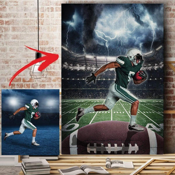 manual canvas Football custom canvas prints Storm - #250919H