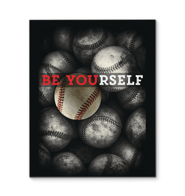 GearLaunch Canvas Prints Baseball Custom Canvas prints Be Yourself