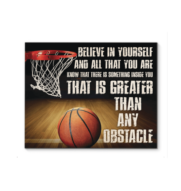 GearLaunch Canvas Prints Basketball Custom Canvas prints Belive in yourself and all that you are