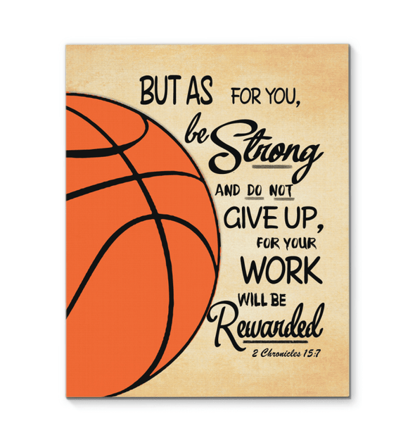 GearLaunch Canvas Prints Basketball Custom Canvas prints Do not give up