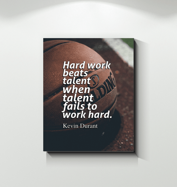 GearLaunch Canvas Prints Basketball Custom Canvas prints Hard work beats talent when talent fails to work hard