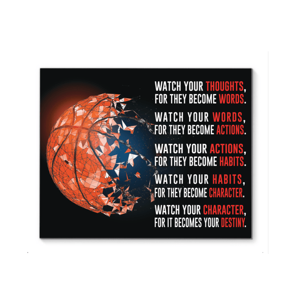 GearLaunch Canvas Prints Basketball Custom Canvas prints WATCH