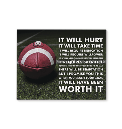 GearLaunch Canvas Prints Football Custom Canvas prints It requires sacrifice