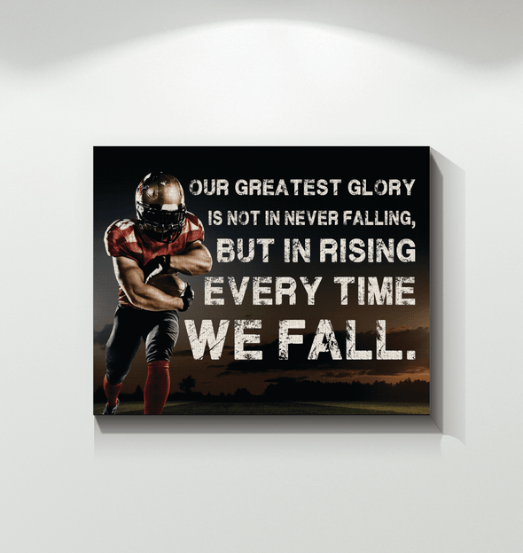 GearLaunch Canvas Prints Football Custom Canvas prints Never falling
